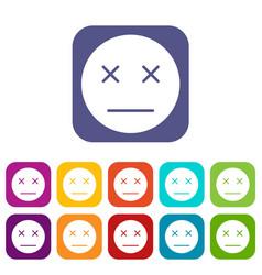 Dead emoticons set vector
