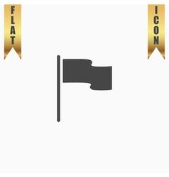 Flag icon location marker symbol flat design style vector