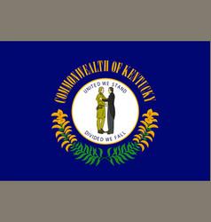 Flag of kentucky usa vector