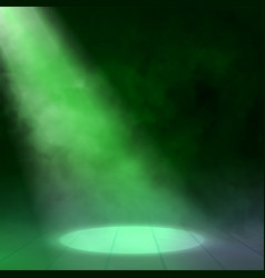 Floodlight spotlight illuminates wooden scene vector