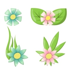 Flower icon colorful plant nature vector