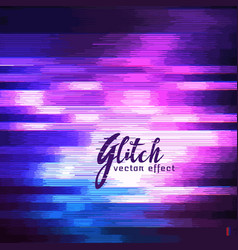 Glitch effect of image corruption vector