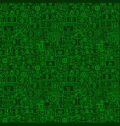 Green line bitcoin seamless pattern vector