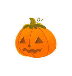 halloween pumpkin lantern with triangular eyes vector image vector image