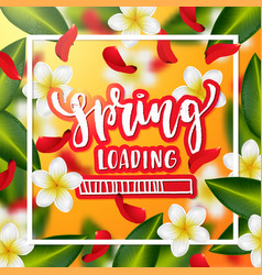 Hand drawn calligraphy spring loading vector