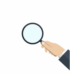 hand with magnifying glass concept of searching vector image