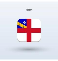 Herm flag icon vector