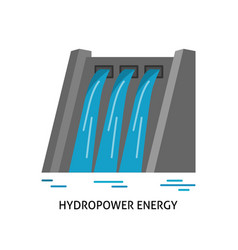 Hydroelectric station icon in flat style vector