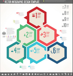 Infographic design template colorful design 5 vector