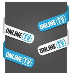 left and right side signs - online tv vector image