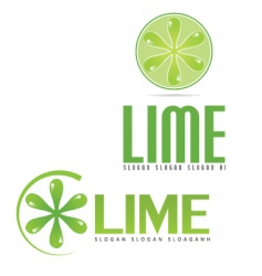 lime logo vector image