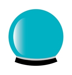 Magic crystal ball icon vector