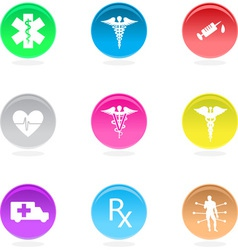 medical circular icons vector image vector image