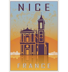 Nice vintage poster vector image vector image