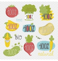 Organic labels and elements vector image