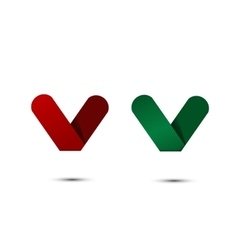 Paper hearts icons vector image