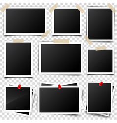 photo cardframefilm set retrovintage vector image
