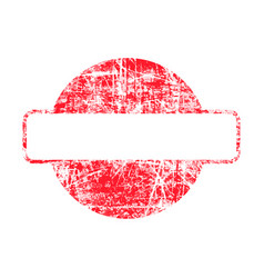 Red circle grunge rubber stamp template vector