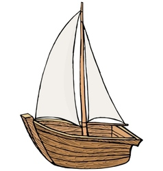 Sailboat toy vector