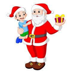 Santa claus with kids vector