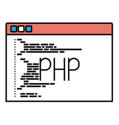 Silhouette color sections of programming window vector