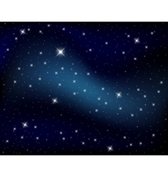 Sparkling nights sky with stars vector image