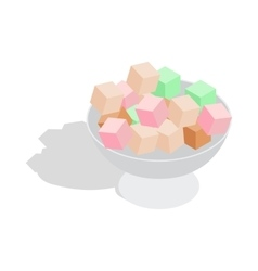 Turkish delight icon isometric 3d style vector image