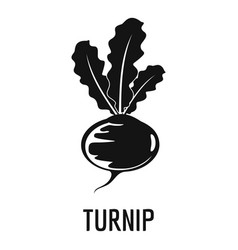 turnip icon simple style vector image