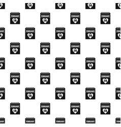 Valentines day calendar pattern vector