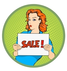 Woman sale banner vector image vector image