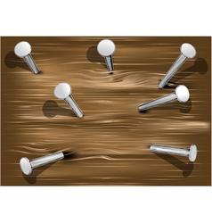 Wood and nails vector