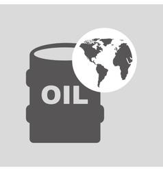 World oil industry consumption oil barrel vector