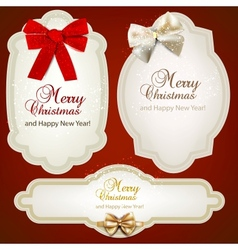 Christmas labels tags set vector