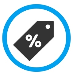Discount Tag Flat Rounded Icon vector image