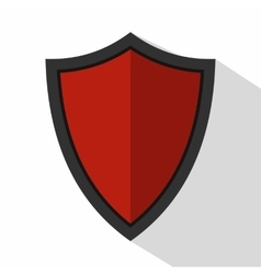 Shield for war icon flat style vector