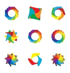 Computer download colorful icons set vector