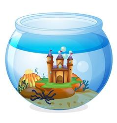 A castle inside the jar vector image