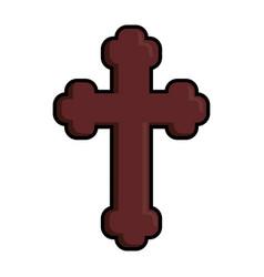 catholic religion icon vector image