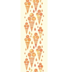 Summer ice cream cones vertical seamless pattern vector