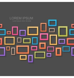 Colorful picture frames seamless background vector