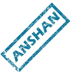 Anshan rubber stamp vector
