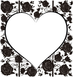 Heart with roses vector