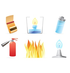 Icons for fire vector