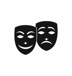 Carnival mask icon simple style vector