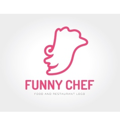 Abstract chef face logo template for vector