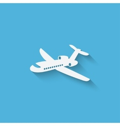 aircraft design element vector image vector image
