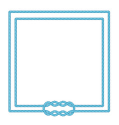 blank poster template with nautical border vector image