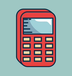 Calculator math handmade drawn vector
