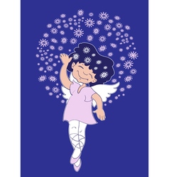 Christmas Angel girl vector image vector image