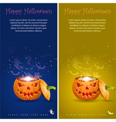 collect greeting card halloween with evil spirits vector image vector image